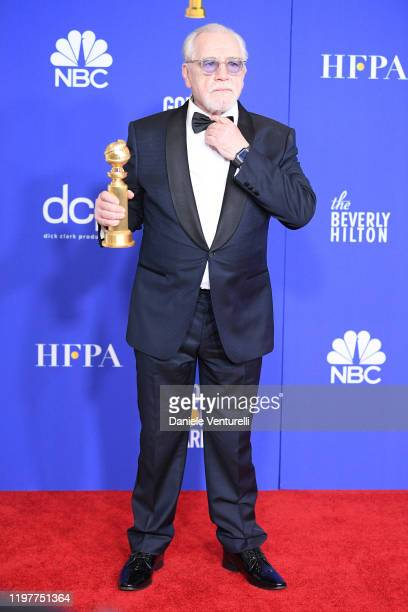 Scottish actor Brian Cox poses in the press room during the 77th Annual Golden Globe Awards at The Beverly Hilton Hotel on January 05, 2020 in...