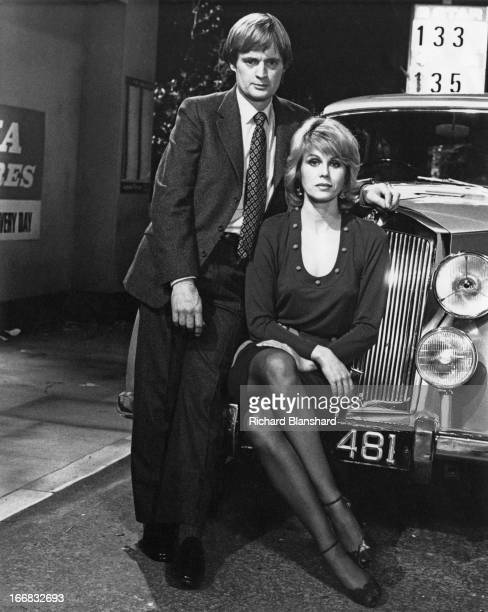 Scottish actor David McCallum and English actress Joanna Lumley as they appear in the British television sciencefiction series 'Sapphire Steel' circa...