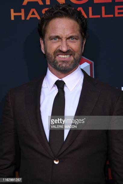 Scottish actor Gerard Butler arrives for the Los Angeles premiere of Angel Has Fallen at the Regency Village theatre on August 20 2019 in Westwood...