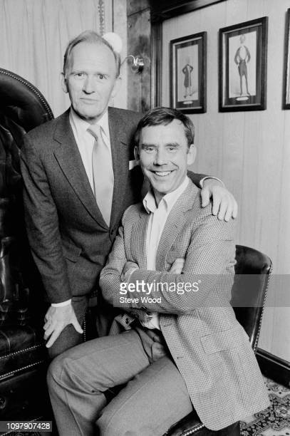 Scottish actor Gordon Jackson and English actor Christopher Beeny costars in the television series 'Upstairs Downstairs' UK 26th April 1984