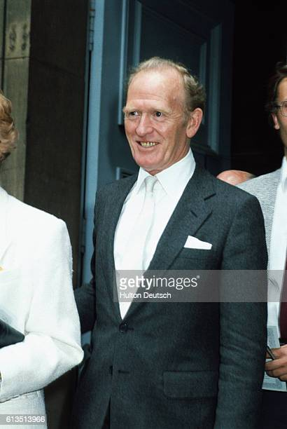 Scottish actor Gordon Jackson attends a memorial service to English actor Sir Michael Redgrave London 1985 | Location Covent Gardent London England UK