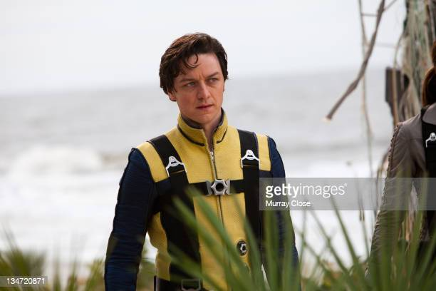 Scottish actor James McAvoy as Charles Xavier in a scene from the film 'X-Men: First Class', 2011.