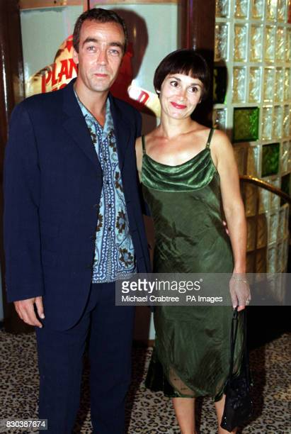 Scottish actor John Hannah who stars in the 1999 remake of the 1930s film The Mummy with his wife Joanna Roth at the Oscar Moore Screenwriting Prize...