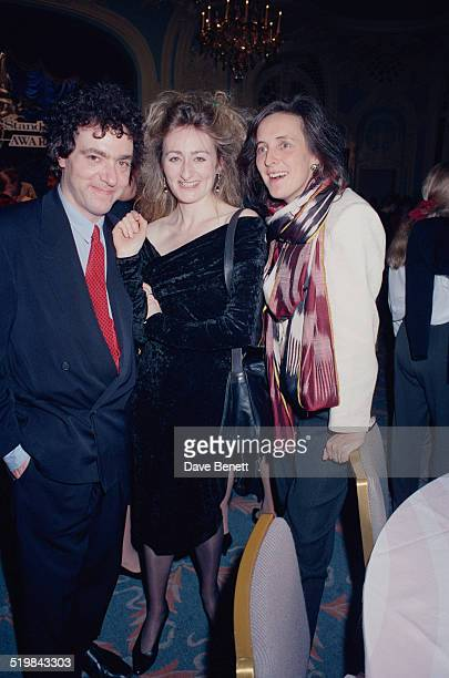 Scottish actor John Sessions with Irish actress Fiona Shaw at the Evening Standard Theatre Awards held at the Savoy Hotel London 12th November 1991