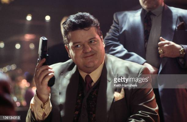Scottish actor Robbie Coltrane stars as Valentin Dmitrovich Zukovsky in the James Bond film 'GoldenEye' 1995