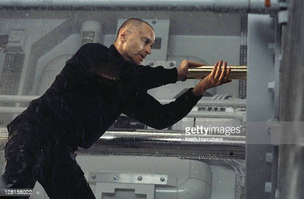 Scottish actor Robert Carlyle as Renard in a submarine scene from the James Bond film 'The World Is Not Enough' 1999