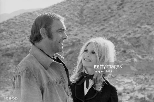 Scottish actor Sean Connery and French actress Brigitte Bardot on the set of Shalako, based on the novel by Louis Lamour and directed by Edward...