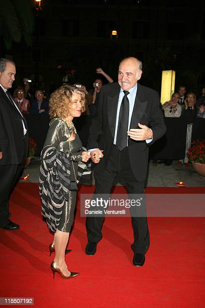 Scottish actor Sean Connery and his wife during 1st Annual Roma Film Festival Concert At The Teatro Dell Opera at The Teatro Dell Opera in Rome Italy
