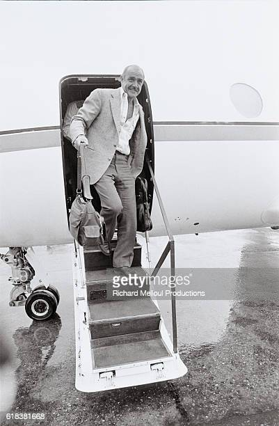 Scottish actor Sean Connery arrives at the airport aboard a private airplane on his way to the Cannes Film Festival He completed two films this year...
