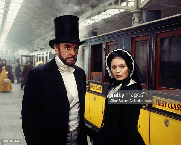 Scottish actor Sean Connery as Edward Pierce and English actress Lesley-Anne Down as Miriam in 'The First Great Train Robbery', directed by Michael...