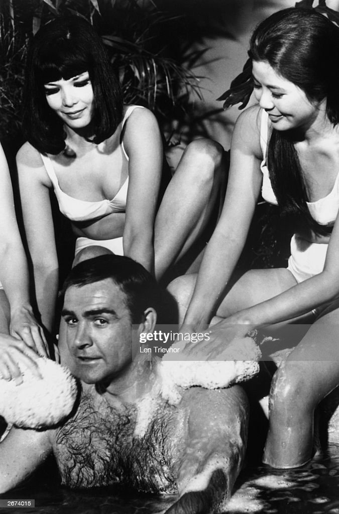 Scottish actor Sean Connery as James Bond in 'You Only Live Twice', during filming at Pinewood studios.