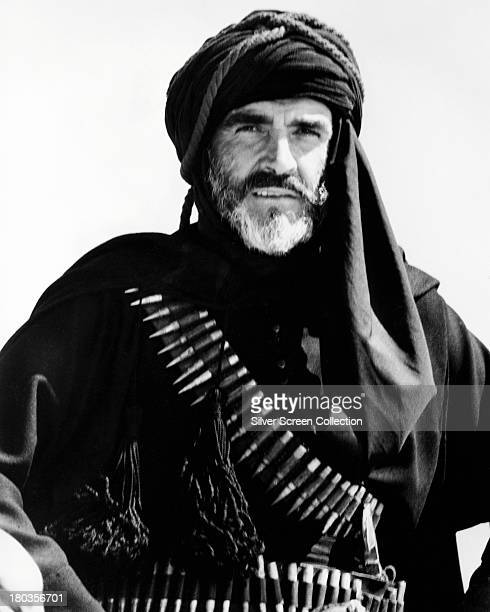 Scottish actor Sean Connery as Mulai Ahmed er Raisuli in 'The Wind And The Lion', directed by John Milius, 1975.