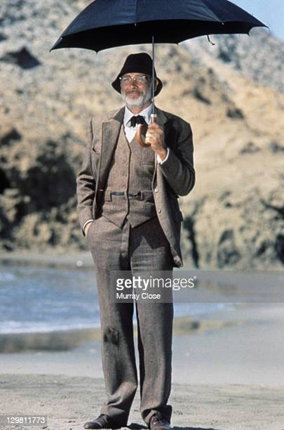 Scottish actor Sean Connery as Professor Henry Jones in a scene from the film 'Indiana Jones and the Last Crusade', 1989.