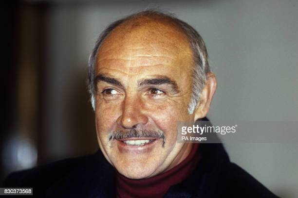 Scottish actor Sean Connery at the London premiere of the film 'The Name of the Rose' in which he stars as a Franciscan monk 29/01/01British actor...