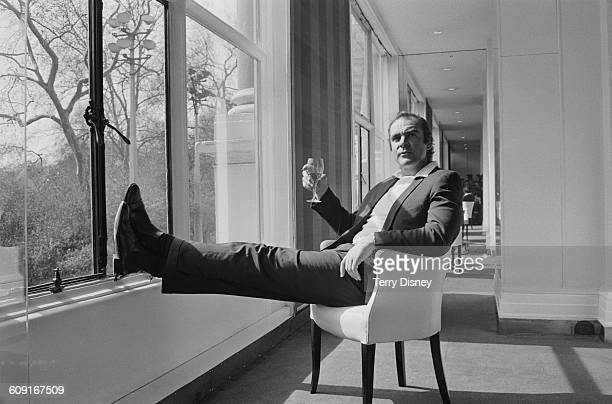 Scottish actor Sean Connery at the Savoy Hotel in London UK 11th April 1971