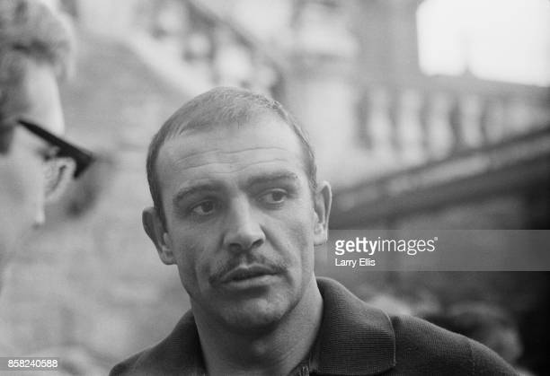 Scottish actor Sean Connery on the set of British movie 'The Hill' 10th September 1964