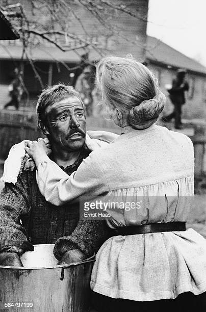 Scottish actor Sean Connery stars as a Pennsylvania coal miner in the film 'The Molly Maguires' 1970