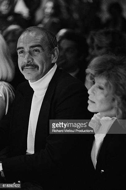 Scottish actor Sean Connery with wife Micheline Roquebrune invited by French singer Regine for the opening of her new night-club in Puerto Romano.