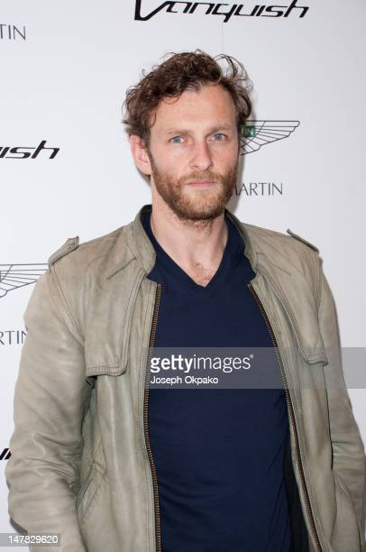 Scottish actor Steven Cree attends the launch of Aston Martin Vanquish at the London Film Museum on July 4 2012 in London England