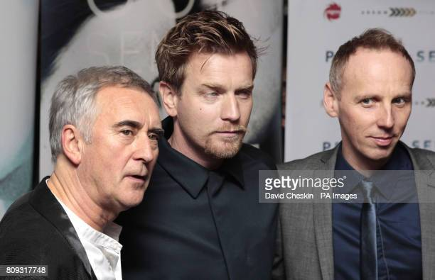 Scottish actors Denis Lawson Ewan McGregor and Ewen Bremner arrive for the opening of McGregor's new film Perfect Sense at the Edinburgh...