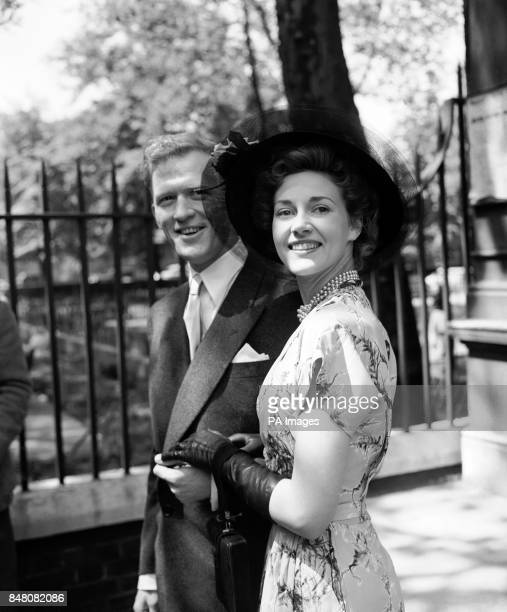 Scottish actors Rona Anderson and Gordon Jackson after their wedding at the Chelsea Register Office London