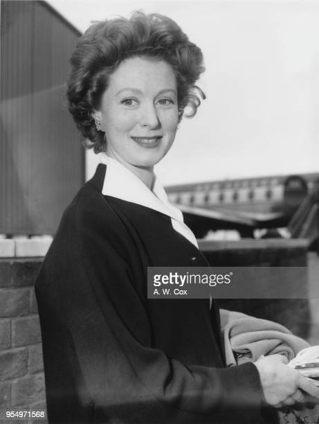 Scottish actress and ballerina Moira Shearer leaves London Airport for Zurich to appear with the Bristol Old Vic Company in 'The Rivals', 19th June...