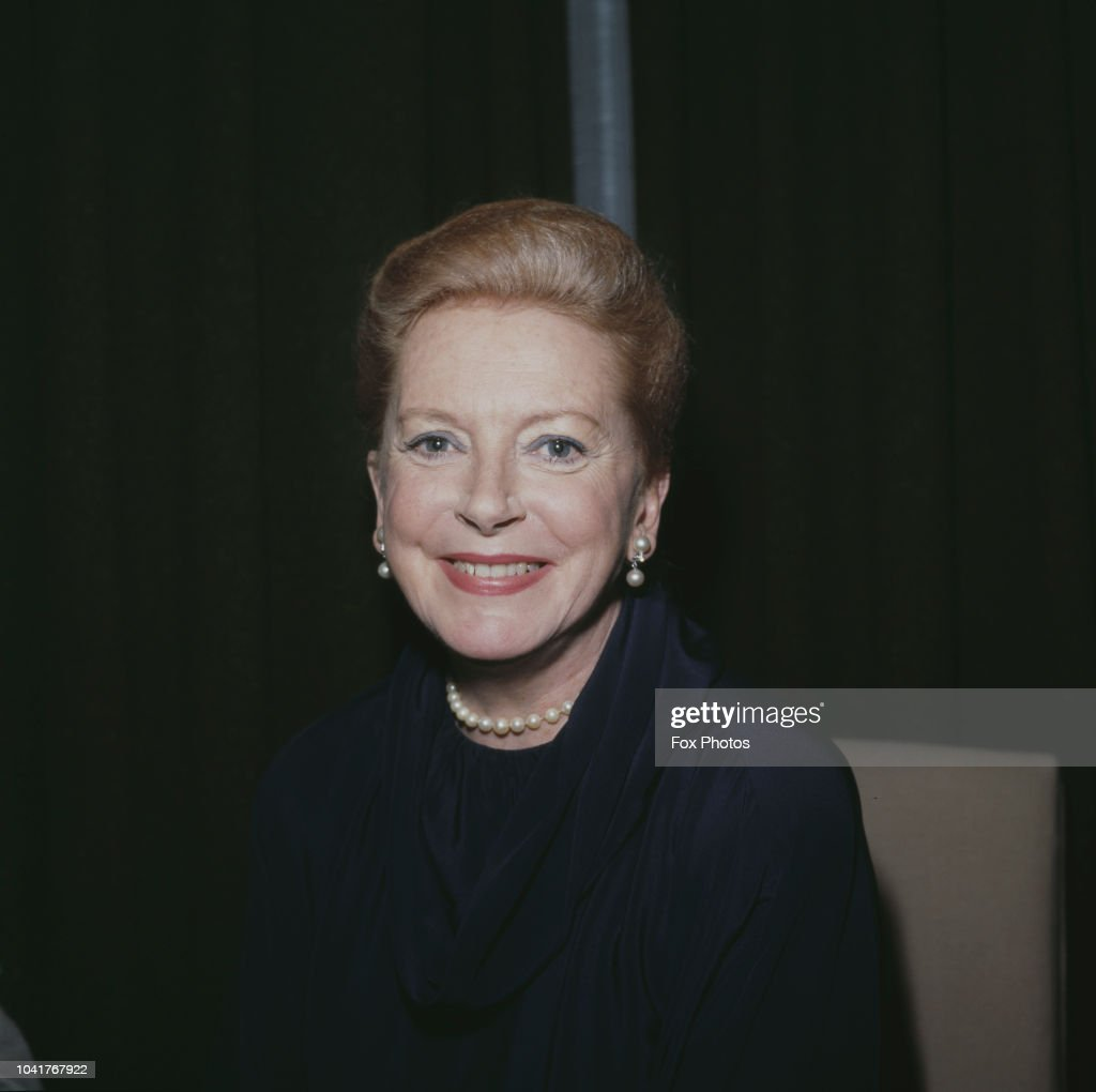 Scottish actress Deborah Kerr (1921 - 2007), who is to star in a new film, 'Reunion at Fairborough', 1984.