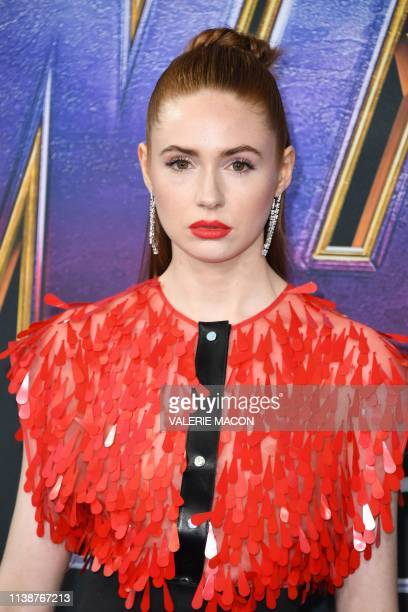 Scottish actress Karen Gillan arrives for the World premiere of Marvel Studios' 'Avengers Endgame' at the Los Angeles Convention Center on April 22...