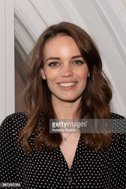 Scottish actress Kate Bracken attends a photocall for the World Premiere of 'Calibre' during the 72nd Edinburgh International Film Festival at The...