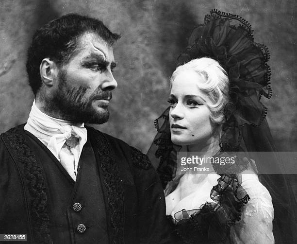 Scottish actress Mary Ure and English actor and dramatist Robert Shaw in 'The Changeling', at the Royal Court Theatre, London. Original Publication:...