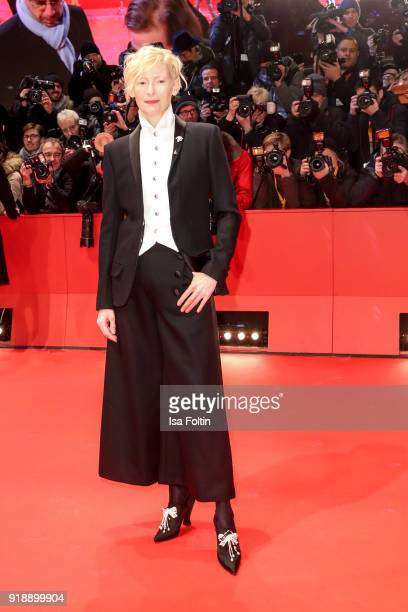 Scottish actress Tilda Swinton attends the Opening Ceremony 'Isle of Dogs' premiere during the 68th Berlinale International Film Festival Berlin at...