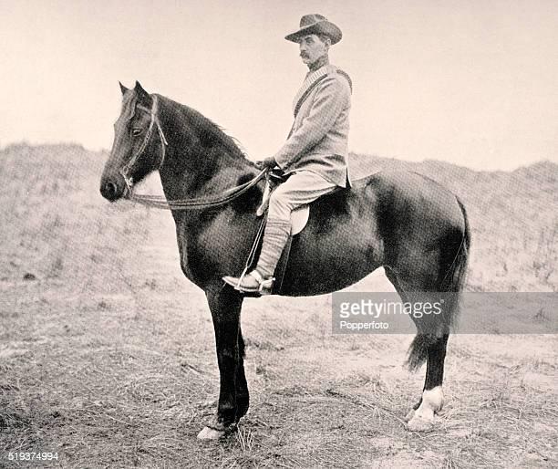 Scottish amateur golfer John Ball Junior in his uniform as a trooper of the Denbighshire Hussars circa 1900