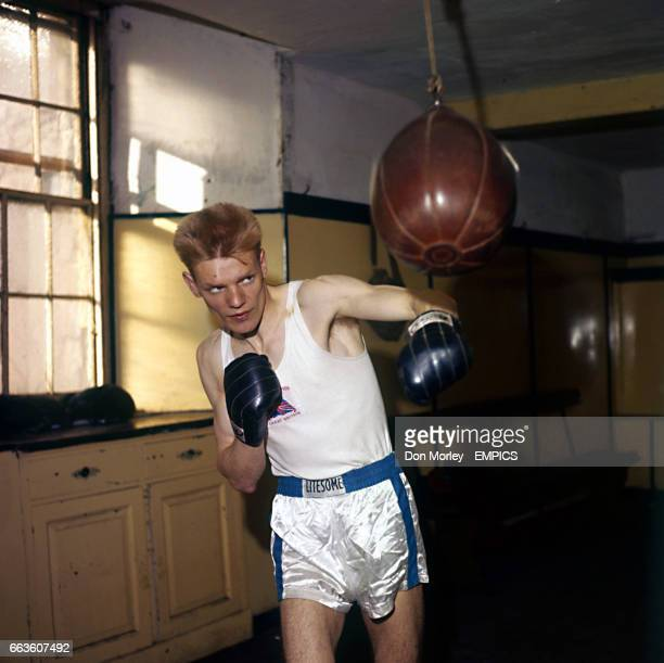 Scottish amateur Lightweight boxer Dick McTaggart in training. Dick McTaggart won the Gold Medal at the 1956 Summer Olympics in Melbourne, Australia...