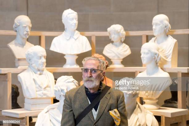Scottish artist John Byrne attends the press launch of the exhibition 'Ages of Wonder Scotland's Art 1540 to Now' at the Royal Scottish Academy...