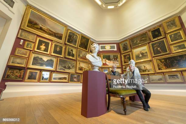 Scottish artists Alison Watt and John Byrne attend the press launch of the exhibition 'Ages of Wonder Scotland's Art 1540 to Now' at the Royal...