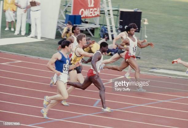 Scottish athlete Allan Wells at the Commonwealth Games in Brisbane Australia 1982