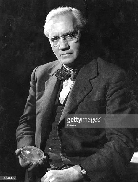 Scottish bacteriologist Alexander Fleming holding a petri dish Original Publication People Disc HD0500