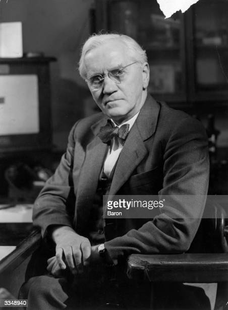 Scottish bacteriologist and discoverer of penicillin Sir Alexander Fleming