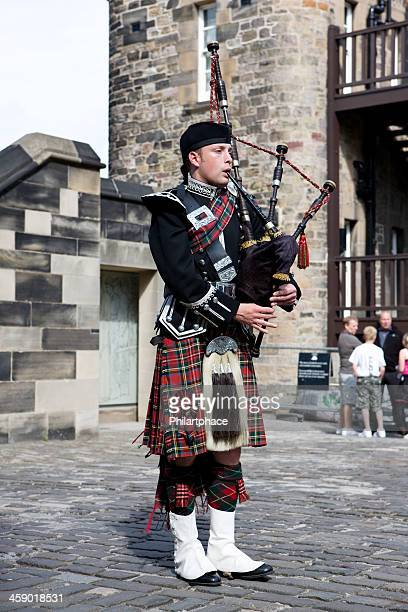 scottish bagpiper Edinborough castle