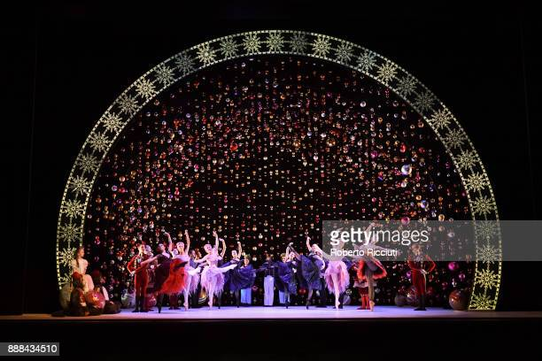 Scottish Ballet perform on stage during the 'The Nutcracker' photocall at Festival Theatre on December 8 2017 in Edinburgh Scotland