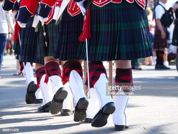 scottish band members wearing kilts - scottish culture stock pictures, royalty-free photos & images