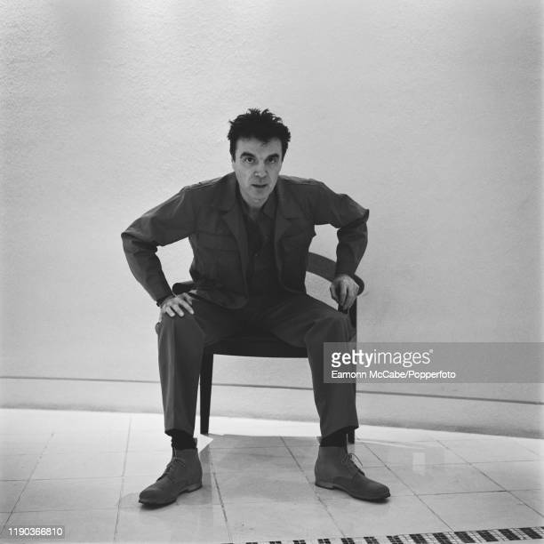 Scottish born American singer and musician David Byrne, formerly of Talking Heads, posed circa 2000.