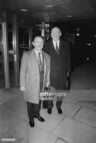 Scottish caterer and hotelier Charles Forte and British Conservative Party politician Peter Thorneycroft UK 25th November 1971
