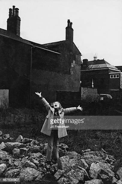 Scottish child singer Lena Zavaroni in Leeds, UK, 1974.