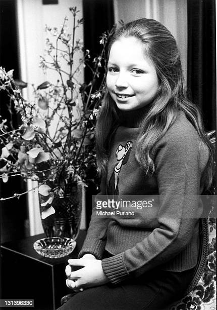 Scottish child star Lena Zavaroni , portrait, London, March 1974.