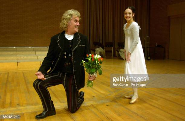 Scottish Comedian and actor Billy Connolly and 21 yearold ballerina SaraMaria Barton joke as they enact a scene from Romeo and Juliet as he paid a...