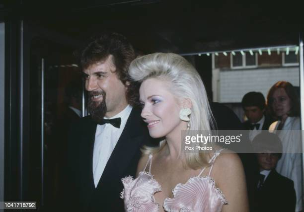 Scottish comedian and actor Billy Connolly with his partner actress Pamela Stephenson at the premiere party for the film 'Superman III' at the...
