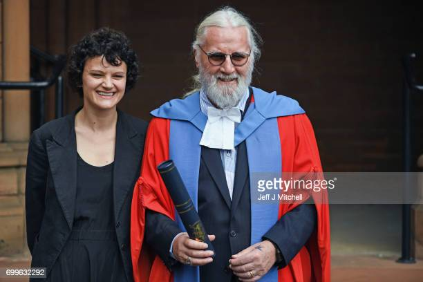 Scottish comedian and actor Sir Billy Connolly and his daughter Cara joined graduating students from the University of Strathclyde at the Barony Hall...