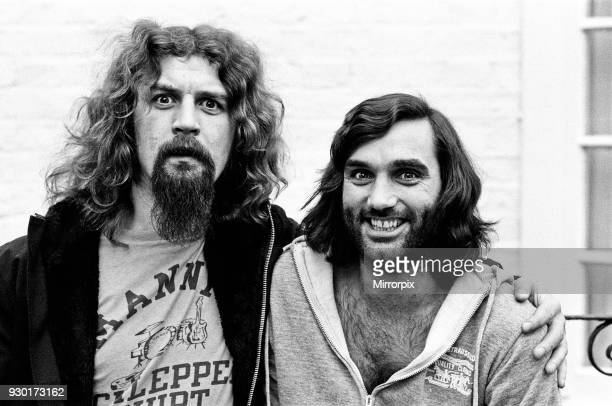 Scottish Comedian and Cabaret star Billy Connolly met George Best in London to discuss the Cabaret for a special dinner being held at the Grovenor...