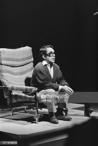 Scottish comedian Ronnie Corbett performs one of his monologues on the BBC variety show 'Christmas Night with the Stars', UK, 19th December 1972.